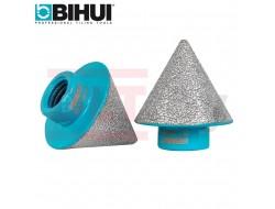 Фреза алмазная конусная (сверло шарошка алмазное коническое) BIHUI, 2-38мм