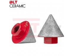 Алмазная конусная фреза DLT CERAMIC CONE PRO, 2-38мм